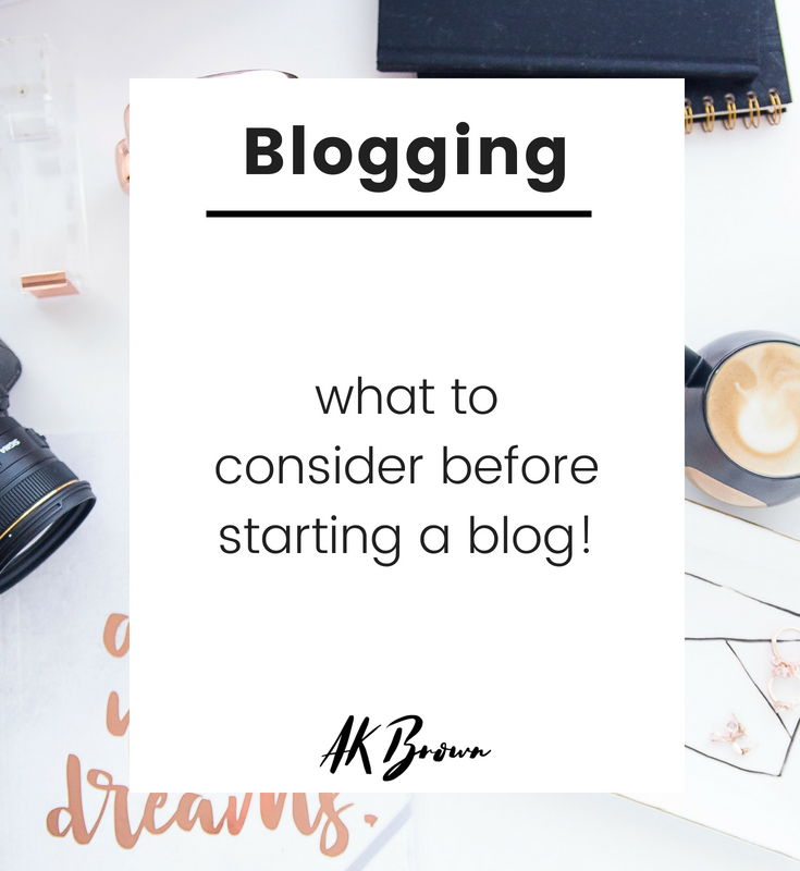 what to consider before starting a blog