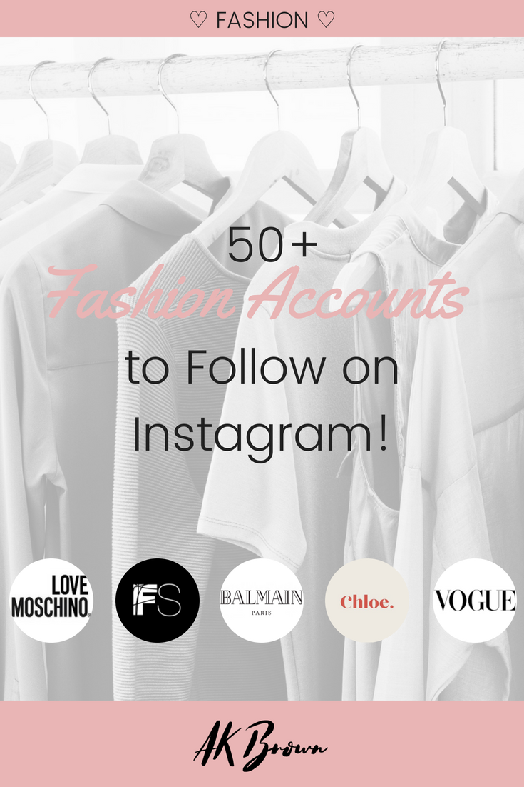 Dope Fashionable Accounts to Follow on Instagram!