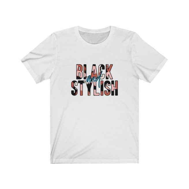 black and stylish graphic tee