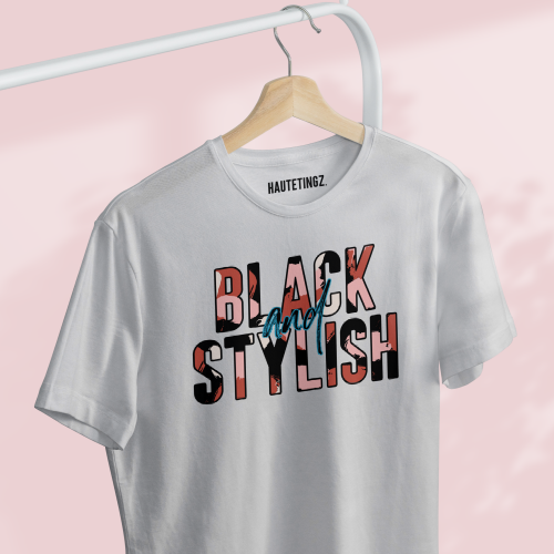 black and stylish tee