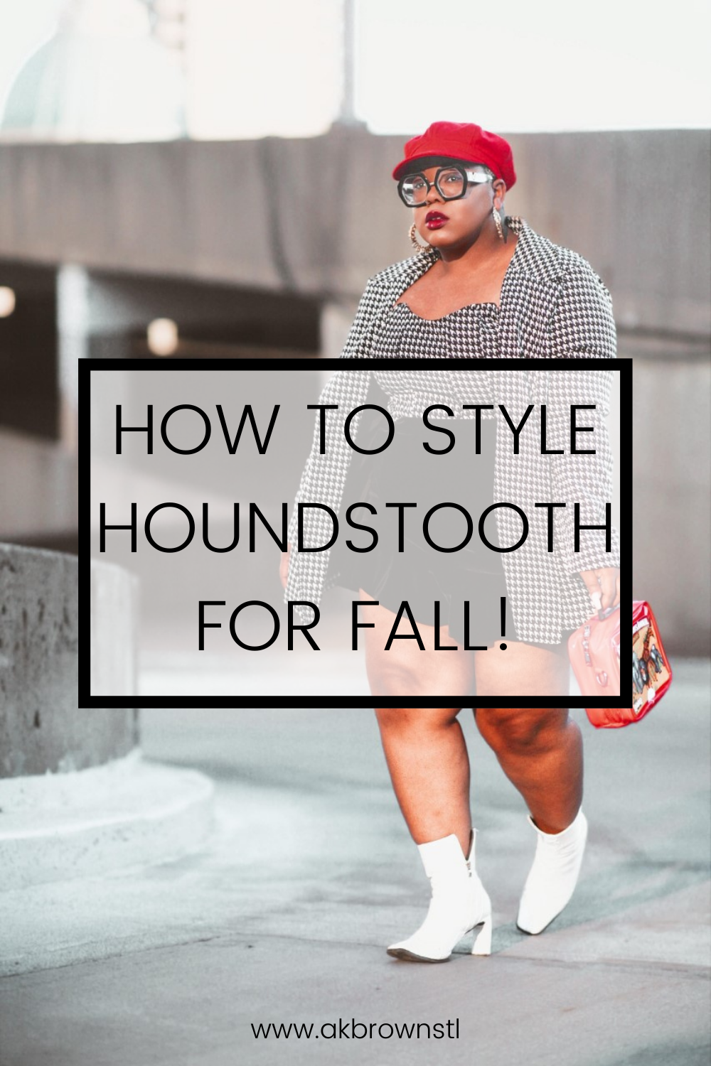 houndstooth fashion style ak brown st louis