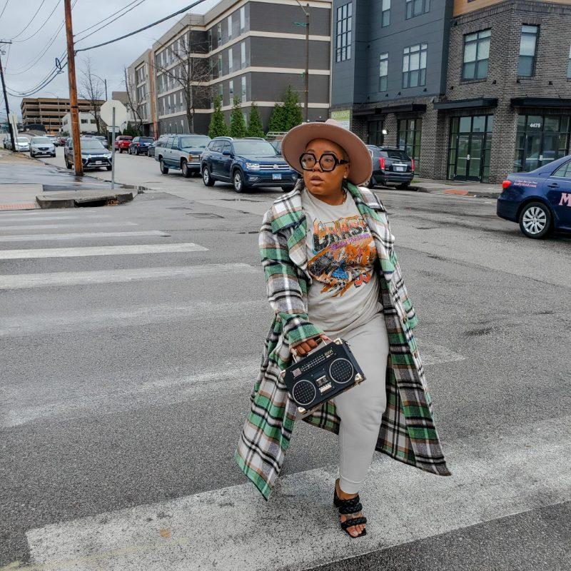 print mixing fashion blogger ak brown