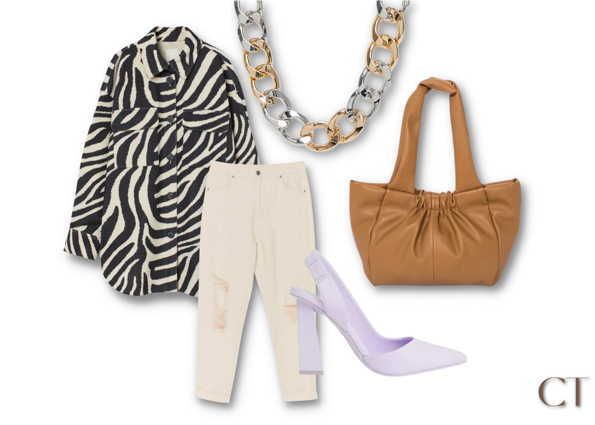 zebra shacket h&m